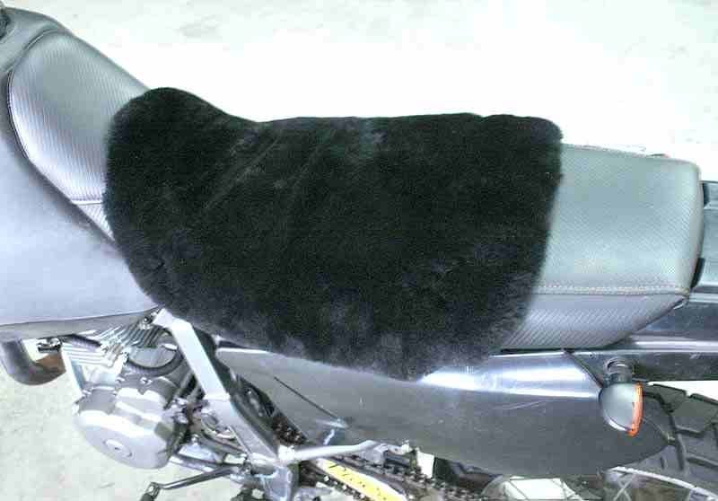 dr650 sheepskin seat cover