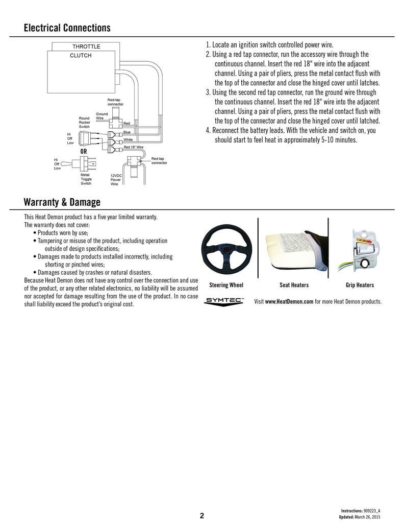 Heat Demon Grip Heater Kit Adventure Bike Australia Heated Grips Wire Diagram