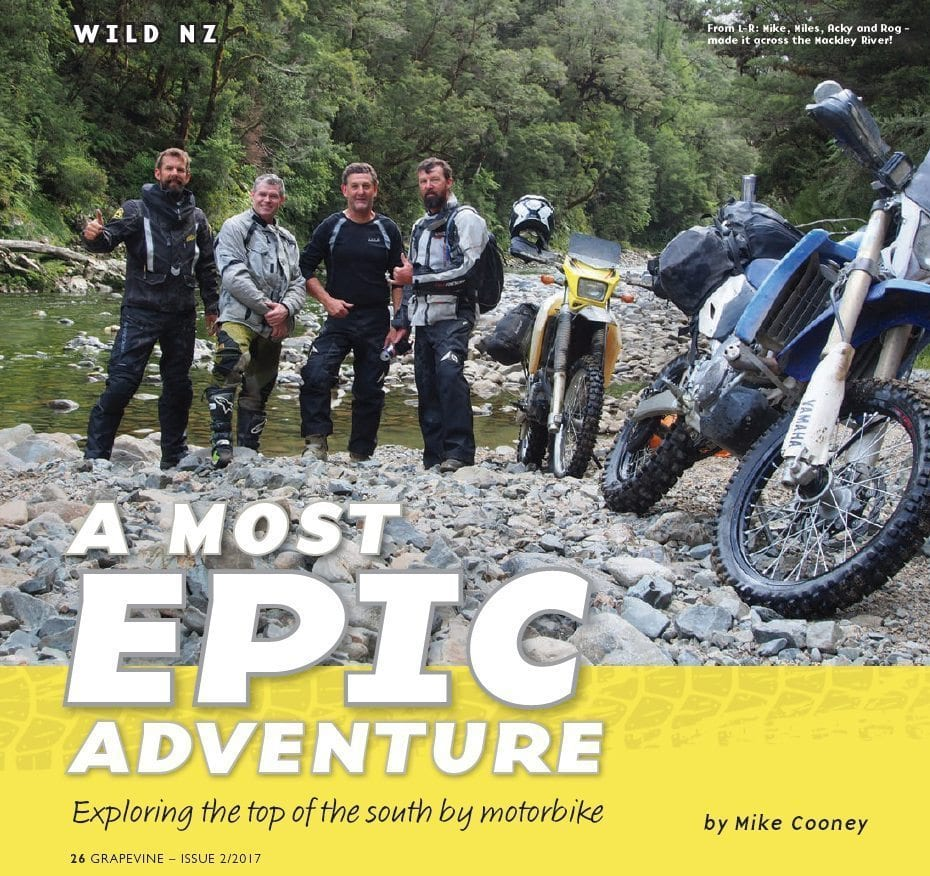 Grapevine Magazine – A Most Epic Adventure
